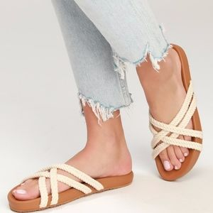 $39 Womens Billabong Rope Tide Slide Sandals 8